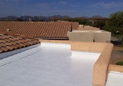 elastomeric roof coating applied by the Tucson roof experts at DC Roofing