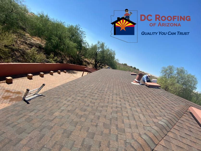 DC Roofing of Arizona installed new shingles on this Tucson home