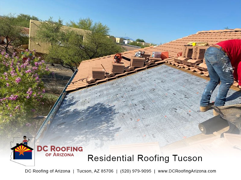 Tucson's favorite roofing contractor at work - DC Roofing of Arizona